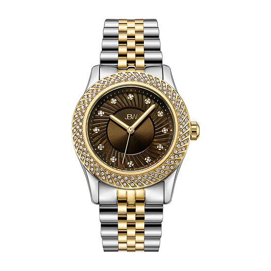 JBW 18K Gold Over Stainless Steel 1/8 CT. T.W Genuine Diamond 3-pc. Watch Boxed Set-J6368e