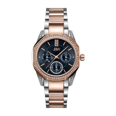 JBW 5 Diamonds/ .05 Ctw Womens Two Tone Bracelet Watch-J6369c