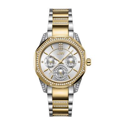 JBW 5 Diamonds/ .05 Ctw Womens Two Tone Bracelet Watch-J6369d