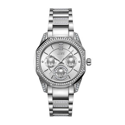 JBW 5 Diamonds/ .05 Ctw Womens Silver Tone Bracelet Watch-J6369e