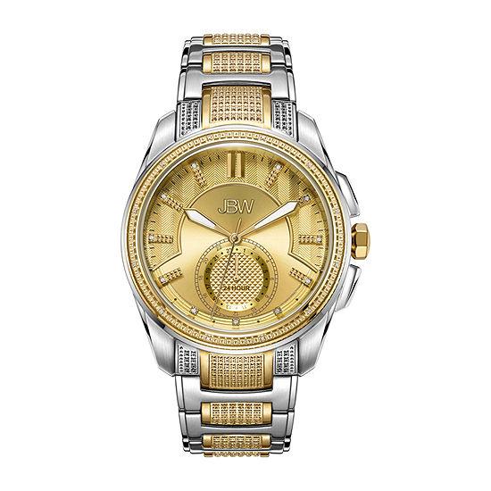 JBW 23 Diamonds/ .23 Ctw Mens Two Tone Bracelet Watch-J6371b