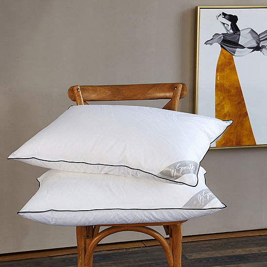 B. Smith Junoseque Jacquard 300 Thread Count Down Alternative Pillow 2-Pack