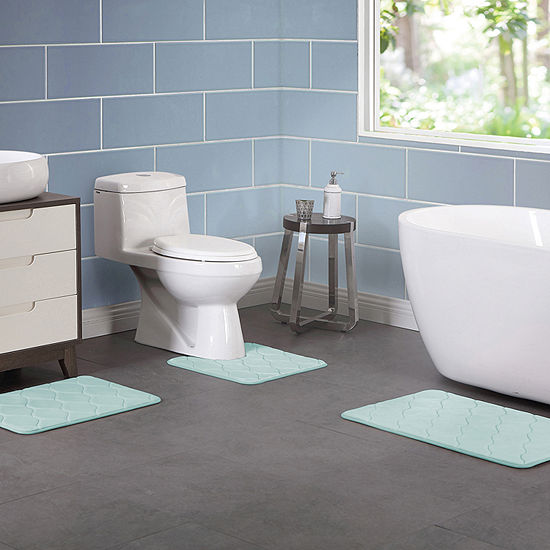 VCNY 3-Piece. Memory Foam Bath Rug Set