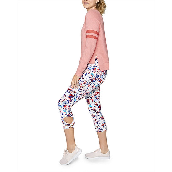 Xersion Side Knot Cotton Capris