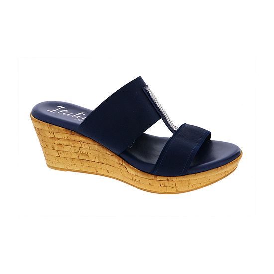 Italiana By Italian Shoemakers Womens Khloe Wedge Sandals