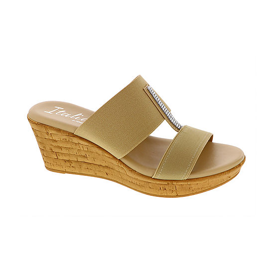 bb146394ee41d Italiana By Italian Shoemakers Womens Khloe Wedge Sandals - JCPenney