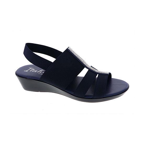 Italiana By Italian Shoemakers Womens Lysset Wedge Sandals