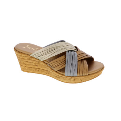 Italiana By Italian Shoemakers Womens Evelyn Wedge Sandals