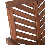 Walker Edison Set Of 2 Acacia Wood Patio Dining Chair