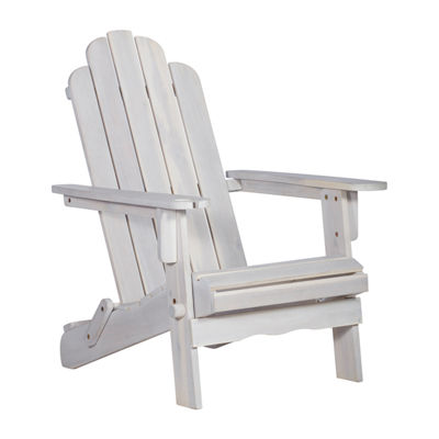 Walker Edison Acacia Wood Adirondack Chair