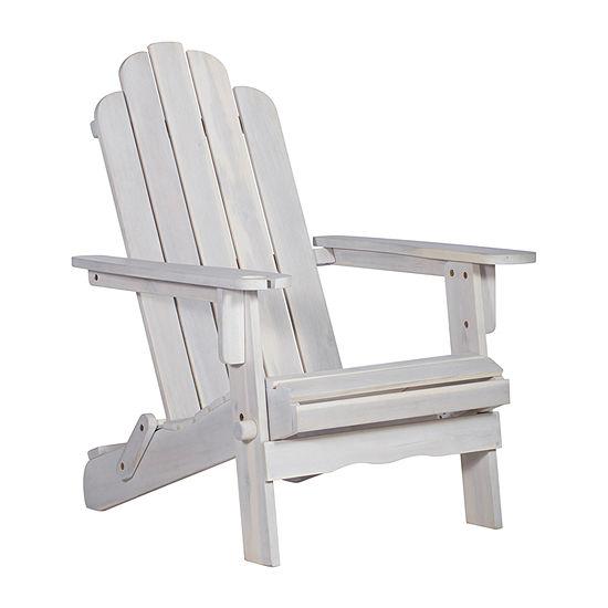 Walker Edison Acacia Wood Adirondack Chair