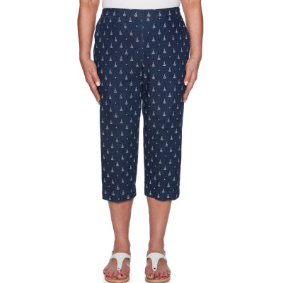 Alfred Dunner Smooth Sailings High Waisted Petite Capris