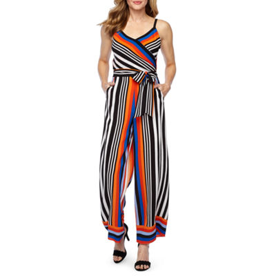 Nicole Miller Sleeveless Belted Jumpsuit