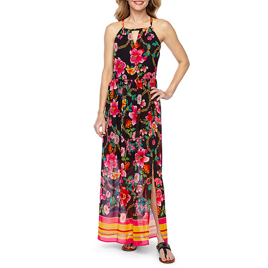 d1d495c9f76 Nicole Miller Sleeveless Floral Maxi Dress - JCPenney