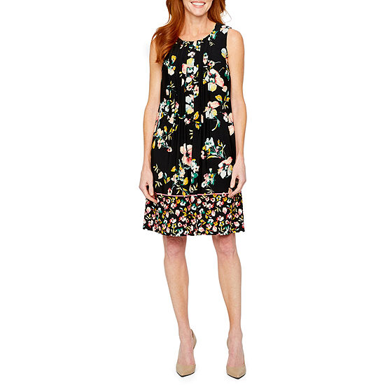 Perceptions Sleeveless Floral Shift Dress