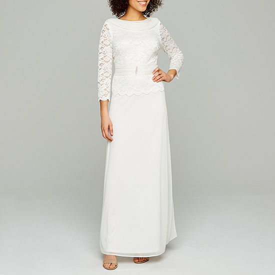 Onyx 3/4 Sleeve Embellished Lace Bridal Gown