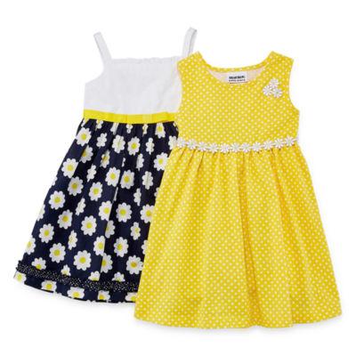 Blueberi Boulevard Sleeveless Dress Set - Toddler Girls