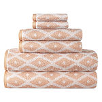JCPenney Home Ikat Geometric Bath Towel