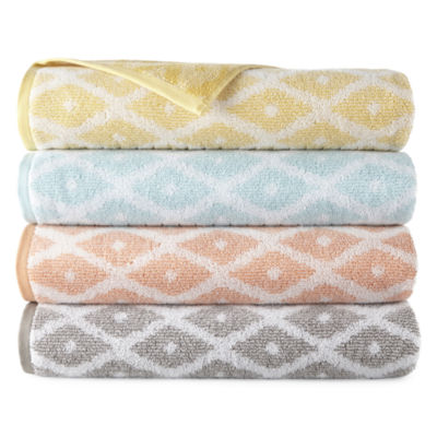 JCPenney Home Ikat Geometric Bath Towel