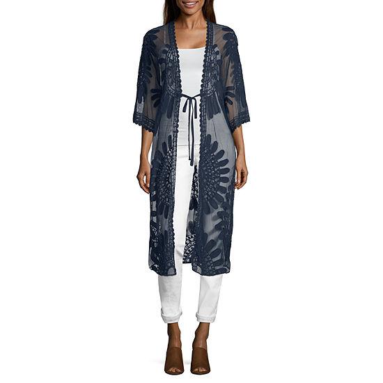 Artesia Womens 3/4 Sleeve Kimono