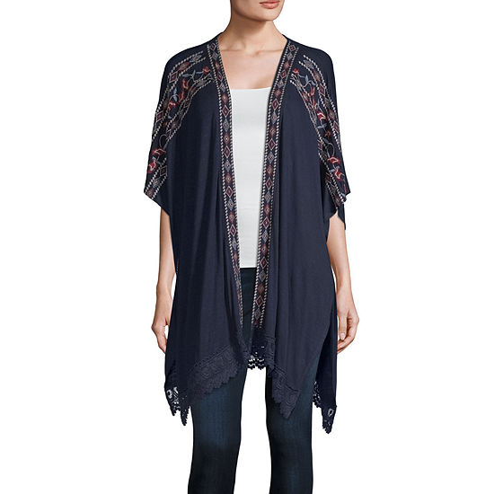 Artesia Womens Short Sleeve Kimono