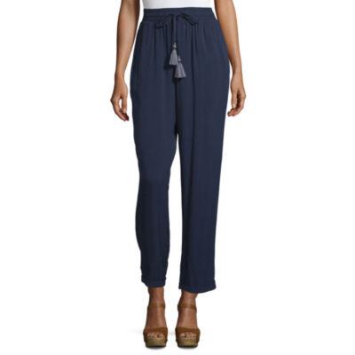 Artesia Womens Cuffed Drawstring Pants
