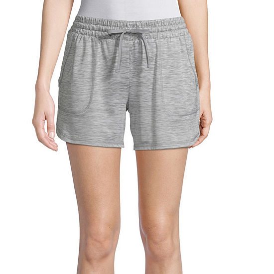 St. John's Bay Active Womens Mid Rise Drawstring Waist Soft Short
