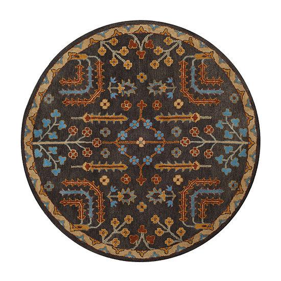 Safavieh Heritage Collection Noah Oriental Round Area Rug