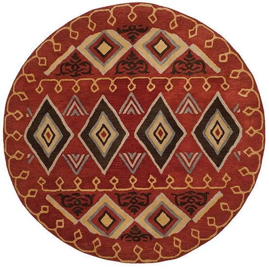 Safavieh Heritage Collection Ruth Geometric Round Area Rug