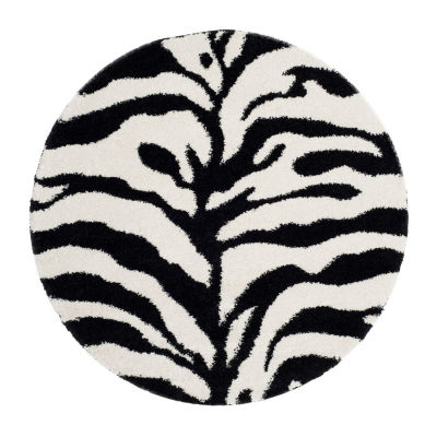 Safavieh Shag Collection Lennox Animal Round Area Rug