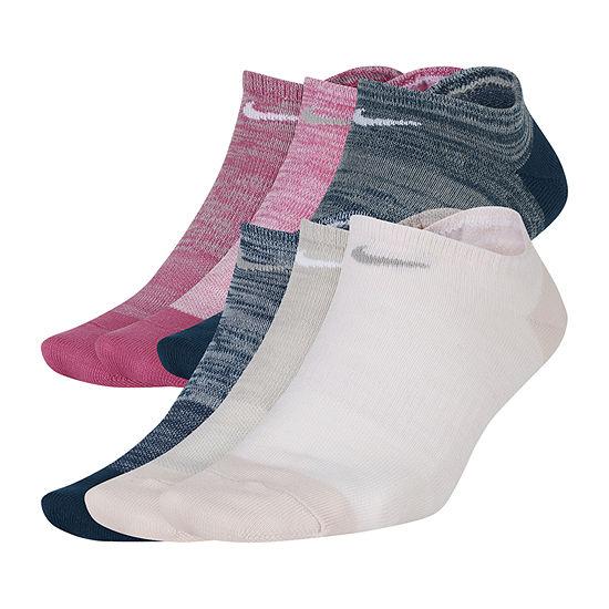 Nike 6 Pair No Show Socks Womens
