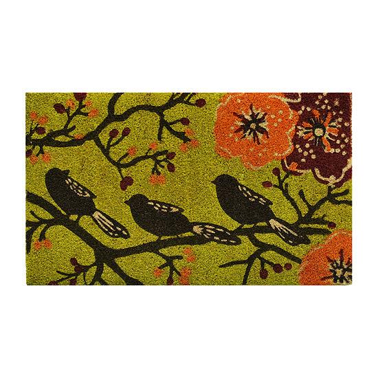 Birds In A Tree Rectangular Outdoor Doormat