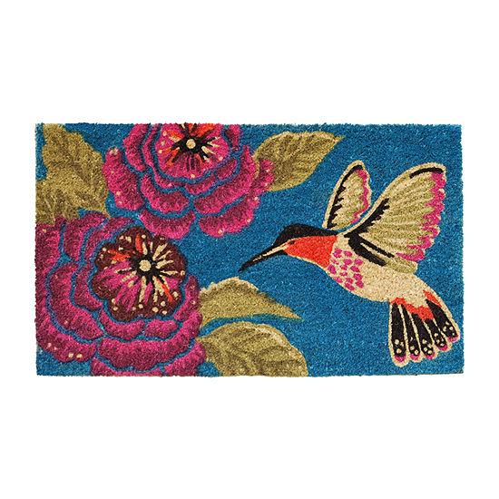 Hummingbird Delight Rectangular Outdoor Doormat