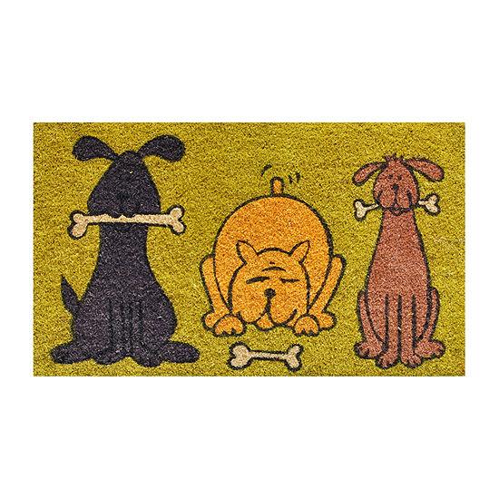 Doggie Fun Rectangular Outdoor Doormat
