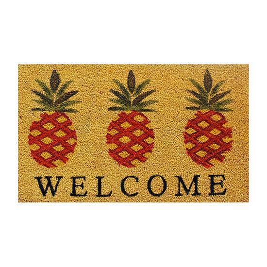 Calloway Mills Pineapple Welcome Rectangular Outdoor Doormat
