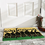 Cats Welcome Rectangular Outdoor Doormat