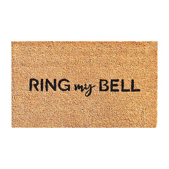 Ring My Bell Rectangular Outdoor Doormat