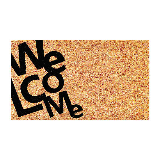 Angle Welcome Rectangular Outdoor Doormat