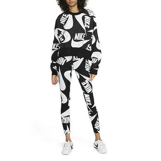 Nike Womens Crew Neck Long Sleeve Fleece Sweatshirt