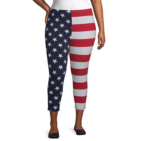 Mixit Americana Womens 7/8 Ankle Leggings