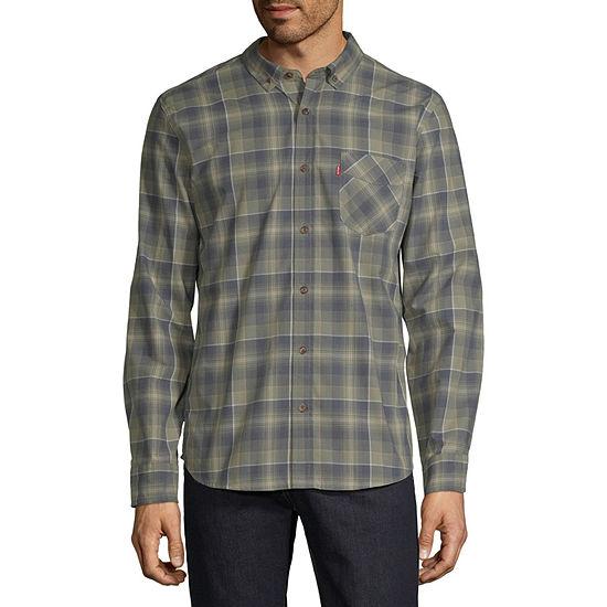 Levi's Mens Long Sleeve Plaid Button-Front Shirt