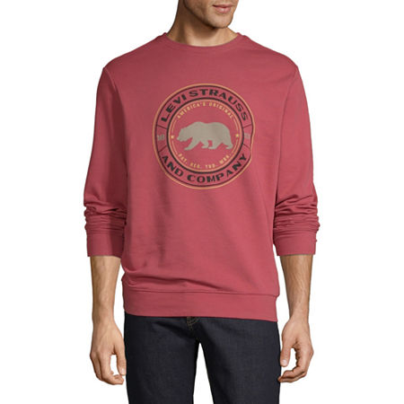 Levi's Mens Crew Neck Long Sleeve Graphic T-Shirt, Medium , Red