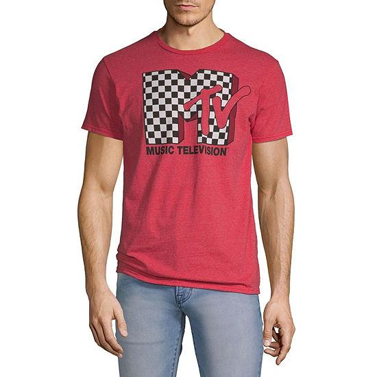 MTV Mens Crew Neck Short Sleeve Graphic T-Shirt
