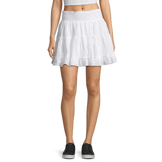 Arizona Womens Short Flared Skirt-Juniors