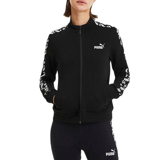 Puma Amplified Womens Mock Neck Long Sleeve Sweatshirt