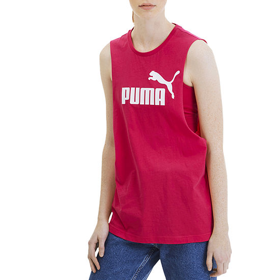 Puma Womens Round Neck Sleeveless Tank Top