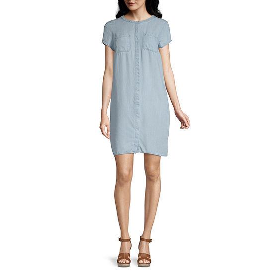 Liz Claiborne Simply Short Sleeve Shirt Dress