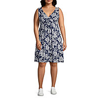 St. John's Bay Womens Sleeveless Sundress-Plus Deals