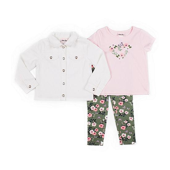Little Lass-Toddler Girls 3-pc. Legging Set