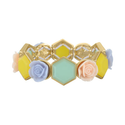 Liz Claiborne Flower Stretch Bracelet